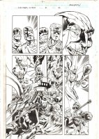 Avengers United They Stand #2 p.12 - Hawkeye, Scarlet Witch, & the Wasp vs. Baron Wolfgang von Strucker & Hydra - 1999 Signed Comic Art