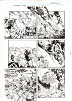 Avengers United They Stand #2 p.20 - Scarlet Witch & Wonder Man Action - 1999 Signed Comic Art