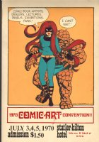 1970 Comic Art Convention Poster - Statler-Hilton Hotel NYC - Litho  Comic Art