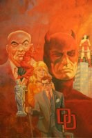 Daredevil Montage Print - LA - 1987 Signed Comic Art