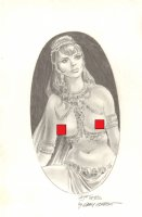 Dejah Thoris Nude Pencil Commission - Signed *Adults Only* Comic Art
