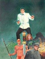 Spy Painting 'James Bond' Parody Comic Art