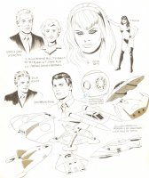 Babes and Spaceships Model Sheet Comic Art