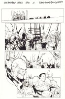 Avenging Spider-Man #4  p.13 - Spidey and Hawkeye - 2012  Comic Art