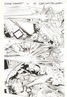 Future Imperfect #2 p.14 - Ruby Summers blasts Maestro - 2015 Signed Comic Art