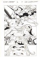Future Imperfect #2 p.17 - Maestro with a beat up Thing - 2015 Signed Comic Art