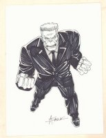 Spider-Man Villain? Commission - Signed Comic Art
