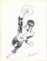 Green Lantern Flying Commission - Signed Comic Art