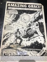 Incredible Hulk Annual #12 p.1 - Amazing Grace Title Splash - 1983 Signed by Stan Lee! Comic Art