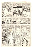 Marvel Team-Up #115 p.19 - Spider-Man & Quasar - 1982 Comic Art