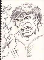 Hulk Portrait Drawing - Signed Comic Art