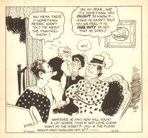 Newspaper Strip Art - 12/23 Signed Comic Art