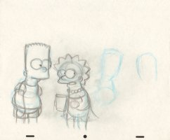 Simpsons, The - Original Production Art - Bart & Lisa Comic Art