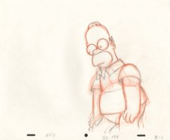 Simpsons, The - Original Production Art - Homer Crouches Comic Art