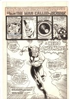 Rampage Monthly #21 UK Reprint Issue - Nova 'A Hero Once More' Title Splash - After Sal Buscema & Frank Giacoia - 1980 Comic Art