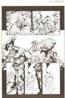 Fantastic Four #506 (77) p.13 - Whole Team - 2003 Signed Comic Art