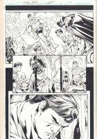 DC Universe Online Legends #10 p.12 - Great Superman, Batman, Wonder Woman, Green Lantern, & Martian Manhunter - 2011 Comic Art