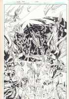 DC Universe Online Legends #22 p.1 - Hawkman and Hawkmen Splash - 2012 Comic Art