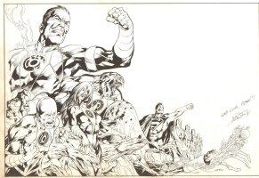Blackest Night Black Lantern Specialty Piece - Signed to Writer: Peter Tomasi Comic Art