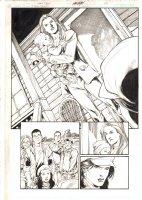 Action Comics #? p.8 - Babe with Child Splash - 2005 Comic Art