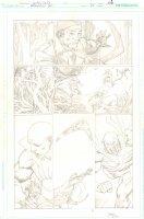 Brightest Day #24 p.6 - Deadman, Captain Boomerang, & Hawk Action - 2011 Signed Comic Art