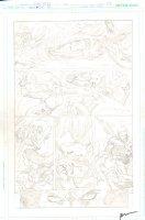 Brightest Day #20 p.17 - Mera vs. Siren! - Aquaman, Aqualad, & Aquagirl - 2011 Signed Comic Art
