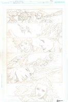 Brightest Day #20 p.20 - Beautiful Mera, Aquaman, Aqualad, & Aquagirl - 2011 Signed Comic Art