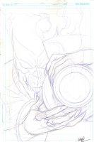 Brightest Day #22 Cover Prelim - Nekron with White Lantern - 2011 Signed Comic Art