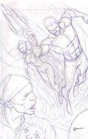Brightest Day #? Pencil Cover Prelim - Aquaman & Mera  - 2011 Signed Comic Art