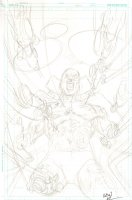 Brightest Day #? Pencil Cover Prelim - Lex Luthor - Signed Comic Art