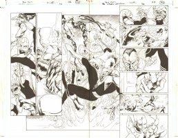 Green Lantern #38 pgs. 6 & 7 DPS - Atrocitus, Tomar-Re, & Sinestro Action - 2009 Signed Comic Art