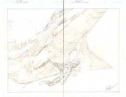 Green Lantern: Secret Origins - Hal Jordan Saving a Fighter Jet Pencil DPS - 2008 Signed Comic Art