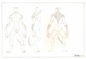 Revisioned: Tomb Raider Animated Series Character Design - Cheetah Monster - Signed Comic Art