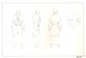 Revisioned: Tomb Raider Animated Series Character Design - Old Man - Signed Comic Art