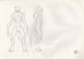 Revisioned: Tomb Raider Animated Series Character Design Layout - Cheetah Monster - Signed Comic Art