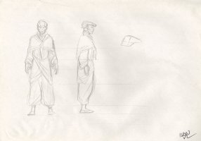 Revisioned: Tomb Raider Animated Series Character Design Layout - Old Man - Signed Comic Art