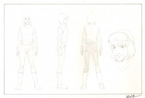Revisioned: Tomb Raider Animated Series Character Design - Young Girl - Signed Comic Art