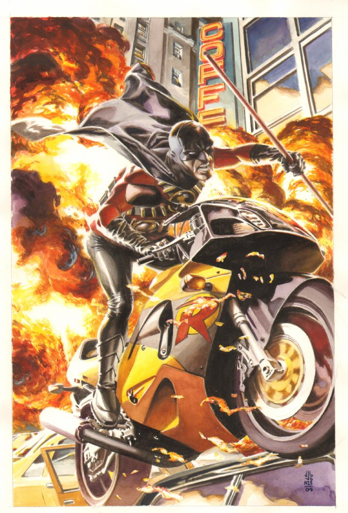 Comic Book Motorcycle Anthony's Comic Book Art