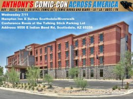 Comic Con Across America 2018 Update - RIGHT NOW: One day show in Scottsdale, AZ Comic Art
