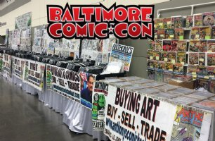 Come see us this weekend (September 22nd - 24th) at the Baltimore Comic Con <br> <p> We will be set up at booth #s A22-A29 Comic Art