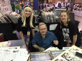 The great Mark Bagley signing pages at our booth #822, 921 at Heroes Con Comic Art