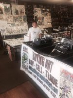 My son Jamison at my set up in Houston, TX at the special 2 day (17th & 18th) Art Show at the Pop Culture Company. Come stop by! Comic Art