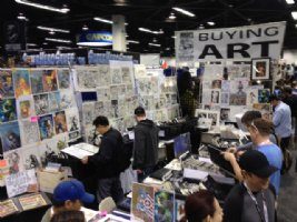 Anthony's set up in Anaheim! <br> See You at the Planet Comicon in Kansas City This Weekend! Comic Art