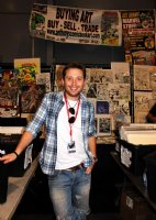 Webmaster, Warehouse Manager, and Art Dealer Bobby Baron at the 2013 New York Comic Con <br> Hundreds of pages to be put on the site in the coming days! Comic Art