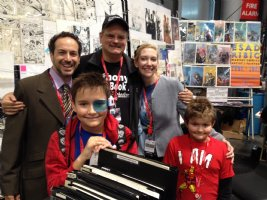 Anthony and His Family with Metropolis Comics' Owner Vinnie Zurzolo at the 2013 New York Comic Con Comic Art