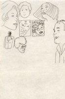 Eight Men and Women Comic Art