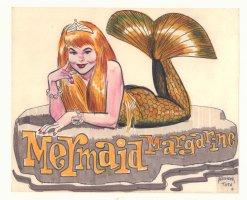 Mermaid Margarine Color Art - Signed Comic Art
