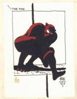 The Fox Color Illo - 1993 Signed  Comic Art