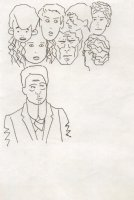 Johnny Quest and Seven Other Faces Comic Art