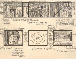 Super Friends Storyboard Art #128 p.49 - Batman & Robin vs. Caesar - Hall of Justice Comic Art